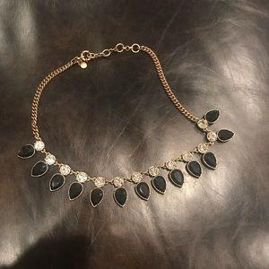 Black, gold and rhinestone J. Crew Necklace!